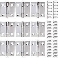 ALLNICE 30 STKS 1 Inch Vouwen Butt Scharnieren Connectors Rvs Mini Huismeubilair Hardware Kast Deur Lade Scharnieren met…