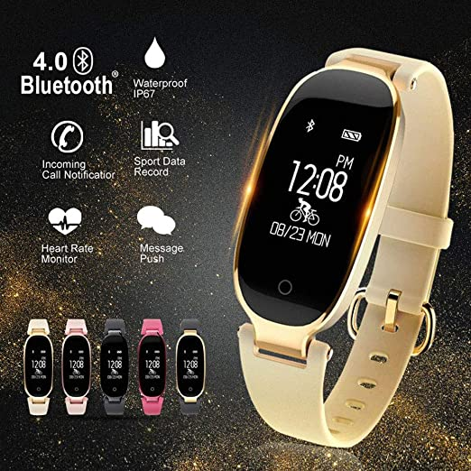 Amazon.com: Bluetooth Waterproof S3 Smart Watch Fashion Women Ladies Heart Rate Monitor Smartwatch Relogio Inteligente for Android iOS Reloj: Electronics