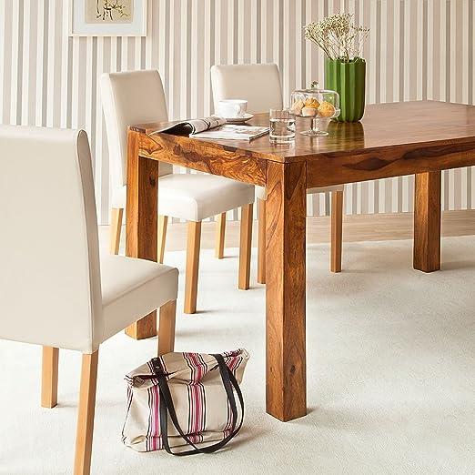 Esstisch Sheesham Honigbraun 200x90cm Esszimmer Holz Tisch Massiv Esszimmer:  Amazon.de: Küche U0026 Haushalt