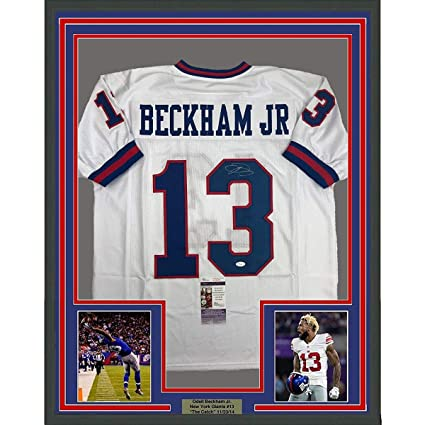 buy online 11efb 5dbfb Framed Autographed/Signed Odell Beckham Jr. 33x42 New York ...