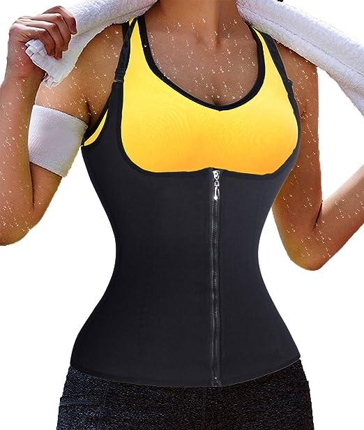 c27c9a38ed Waist Cincher Corset Body Shaper for Men Tummy Shapewear Tank top Vest for  Women Sauna Suit