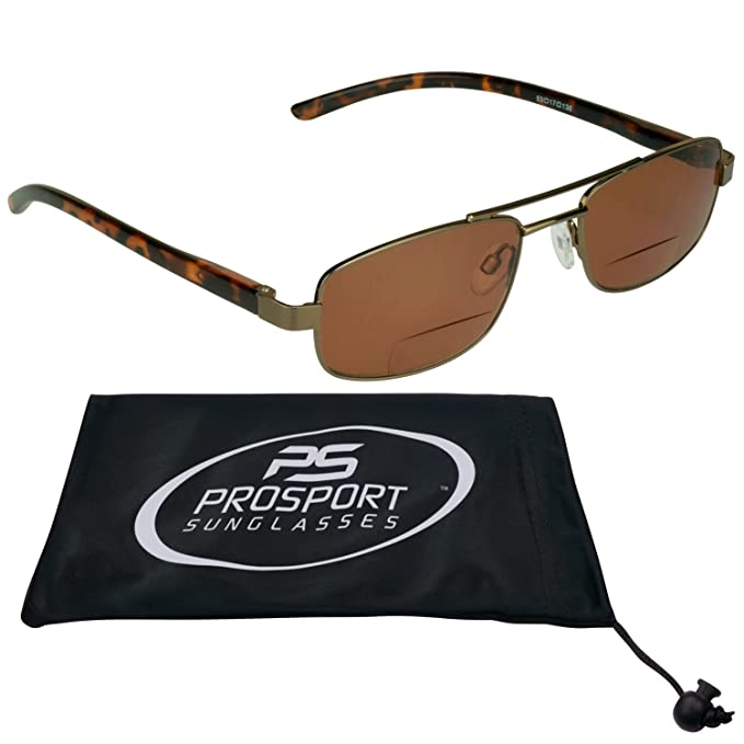 ad97f41623 Square Aviator Bifocal Sunglasses 1.50 for Men and Women with HD Vision  Blue Blocker Lenses.