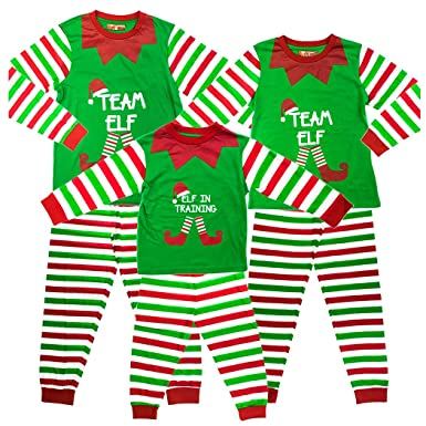 a7e450d2e Kids Elf in Training Matching Family Christmas Elf Pyjamas - 1-2 Years