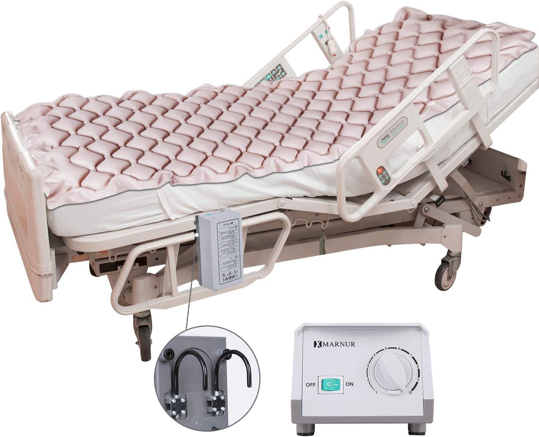 MARNUR - Materasso antidecubito a pressione variabile, sistema di appoggio con pompa, anti-decubito