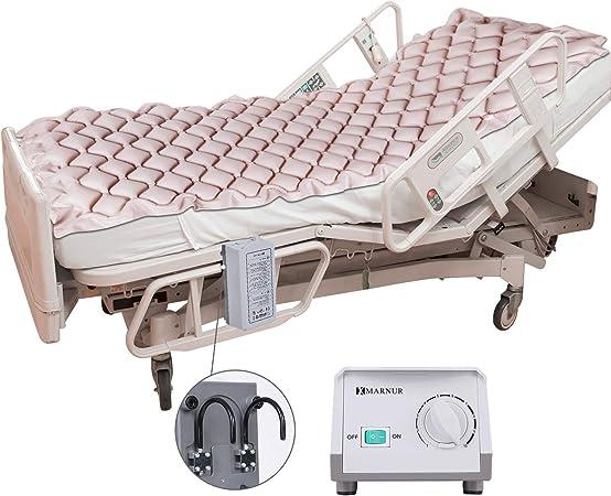 MARNUR Colchón Hinchable antidecúbito, colchón de Aire alternado con Bomba, para decúbito y Alivio de la Herida de la Cama