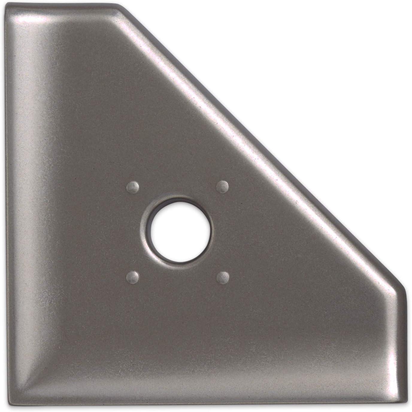 5 inch Shower Caddy Soap Dish - Brushed Nickel Cast Metal Corner Soap Tray Bathroom Organizer Geo Wall Mount Flatback Shelf: Home Improvement