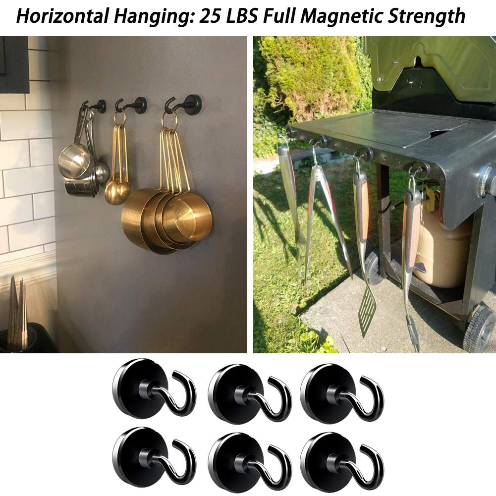 Utility Hooks Office Products JANSANE 48LB Magnetic Hooks Heavy Duty for  Cruise Cabins Refrigerator Locker Classroom Dia 25mm Strong Magnet Hooks  Hangers for Hanging BBQ Grill Tools Keys 10 Pack