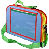 Kids Backseat Car Organizer, AutoEC Kids Travel Tray Holds Crayons Markers an iPad Kindle or Other Tablet, Great for Road Trips and Travel used as a Lap Tray Writing Surface