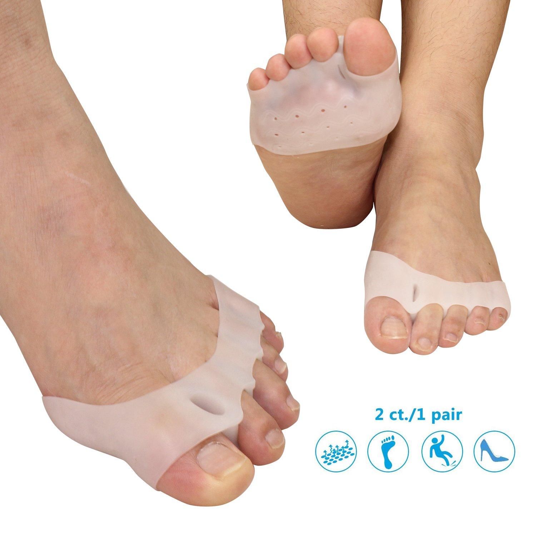 Gel Metatarsal Cushion Toe Separators - Forefoot pad for Mortons Neuroma- Rapid Foot Pain Relief