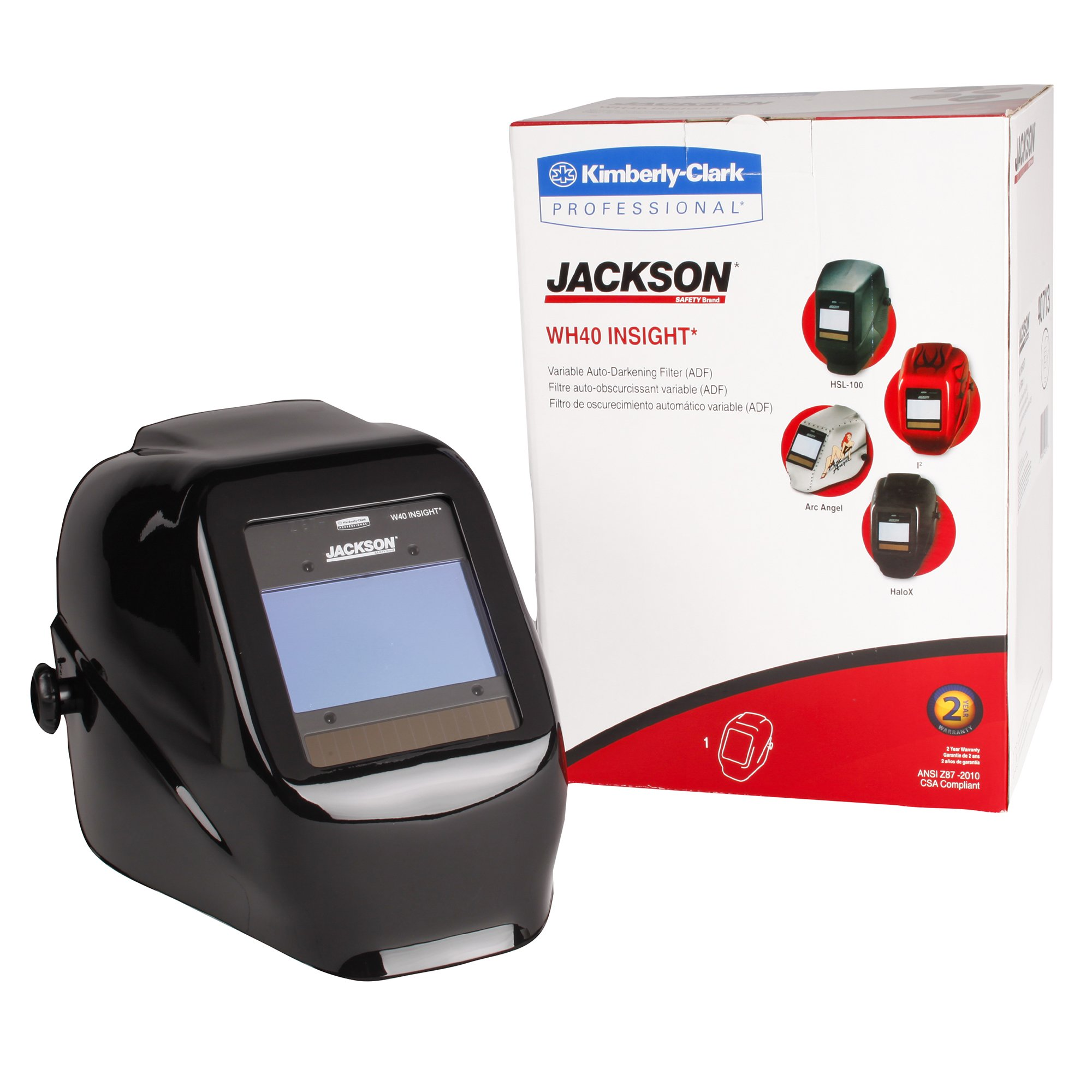 Jackson Safety 46131 Insight Variable Auto Darkening Welding Helmet, HaloX ,Black by Jackson Safety (Image #6)