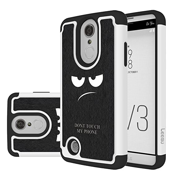 new arrival 22011 e5bc7 LG Aristo Case,LG K8 2017 Case, LEEGU [Shock Absorption] Dual Layer Heavy  Duty Protective Silicone Plastic Cover Case for LG LV3 - Don't Touch My ...
