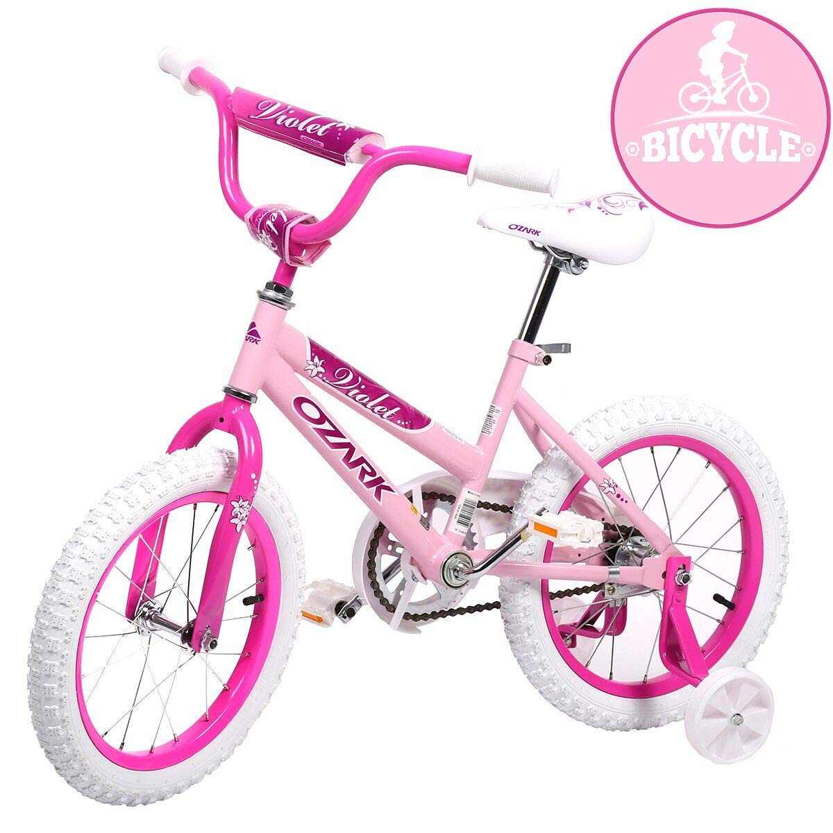 16 Steel Frame Children BMX Girls Kids Bike Bicycle with Training Wheels