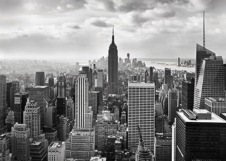 wall mural photo wallpaper new york city skyline black and white