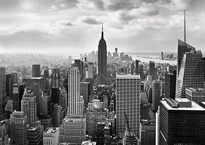 Wall Mural Photo Wallpaper NEW YORK CITY SKYLINE Black And White Amazoncouk Kitchen Home