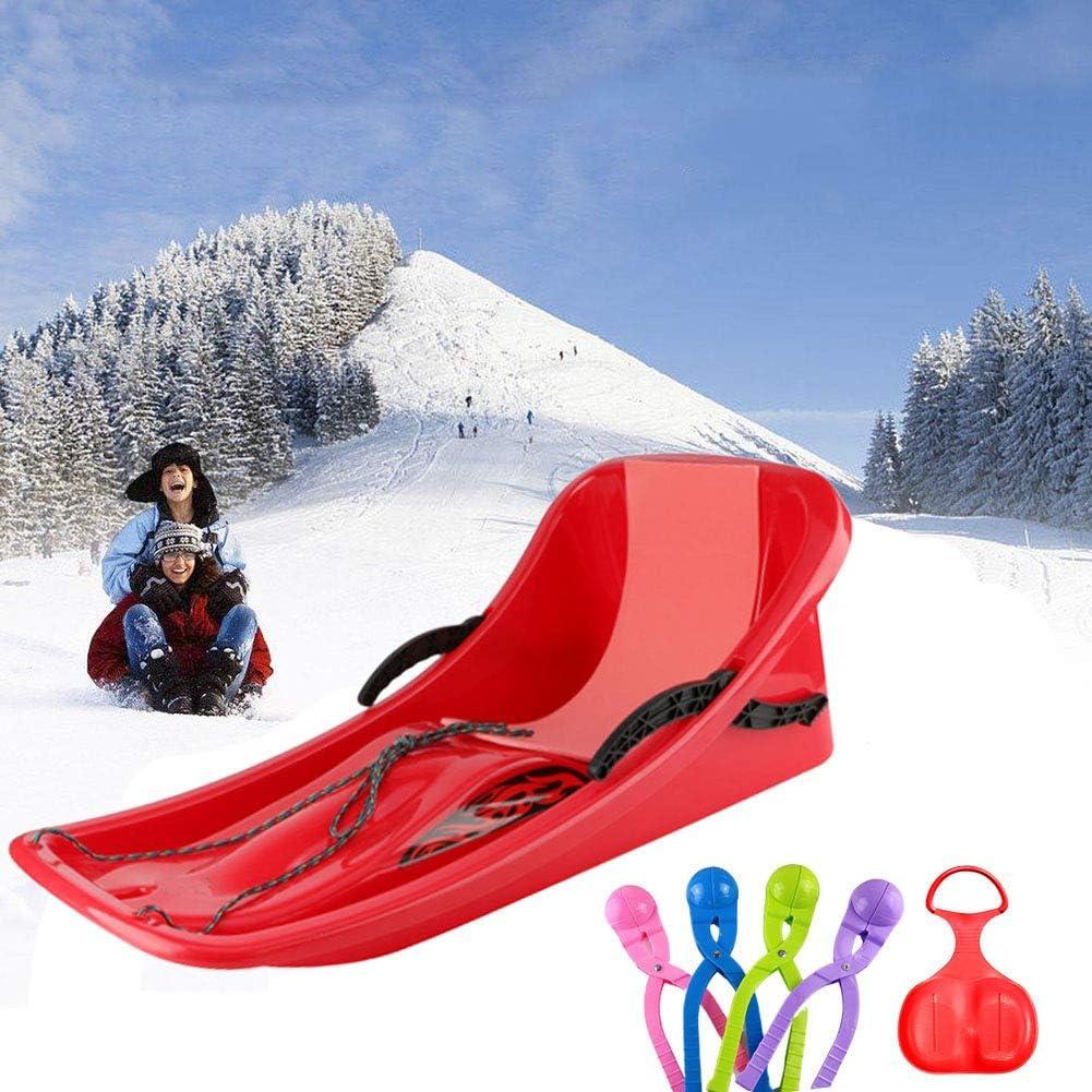 Snow Sled Kids Winter Toboggan Sled,ADSRO Landslide Sands Downhill Xtreme Winter Toboggan Flexible Flying Saucer