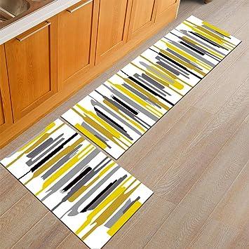 Ommda Tappeti Cucina Lavabile Antiscivolo Moderno Geometria Stampa Tappeto  da Cucina Gommato 6mm 50x160cm