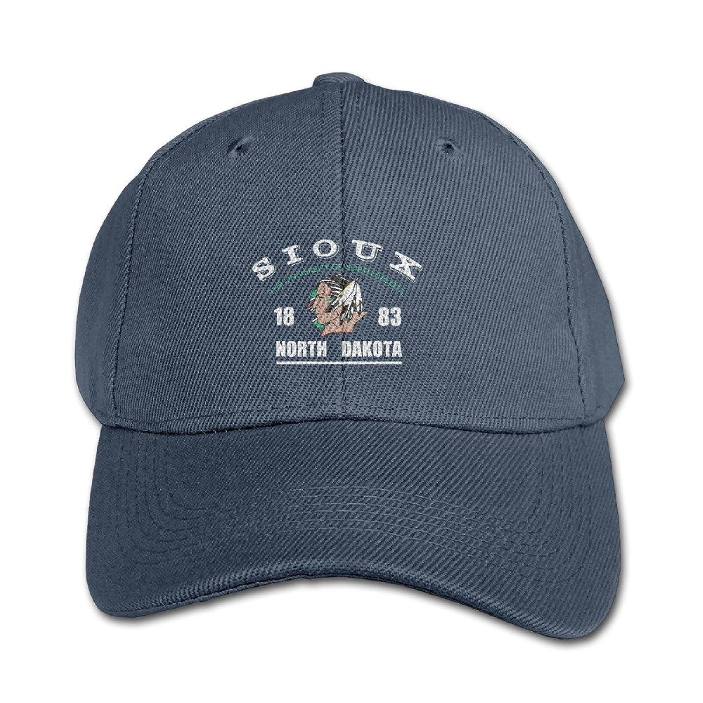 KIDDOS Little Boys' And Girls' University Of North Dakota-Fighting Sioux Baseball Cap Cotton Cap - Adjustable Hat Ash