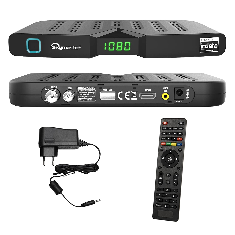 HEVC//H.265 HDTV HDMI Ethernet USB DVBT DVBT2 DVB-T2 HB DIGITAL DVB-T//T2 Set: Skymaster DTR5000 DVB-T//T2 Receiver Opticum Smart HD550 Antenne kartenloses Irdeto-Zugangssystem f/ür freenet TV