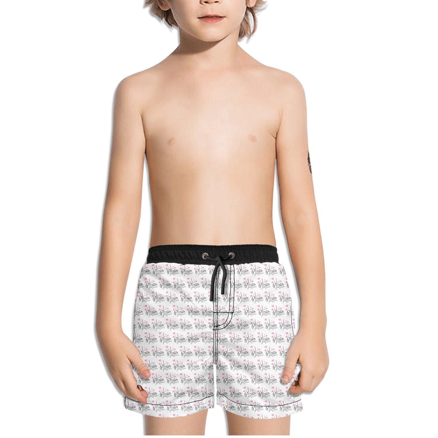 Trum Namii Boys Quick Dry Swim Trunks Paris France Eiffel Tower Shorts