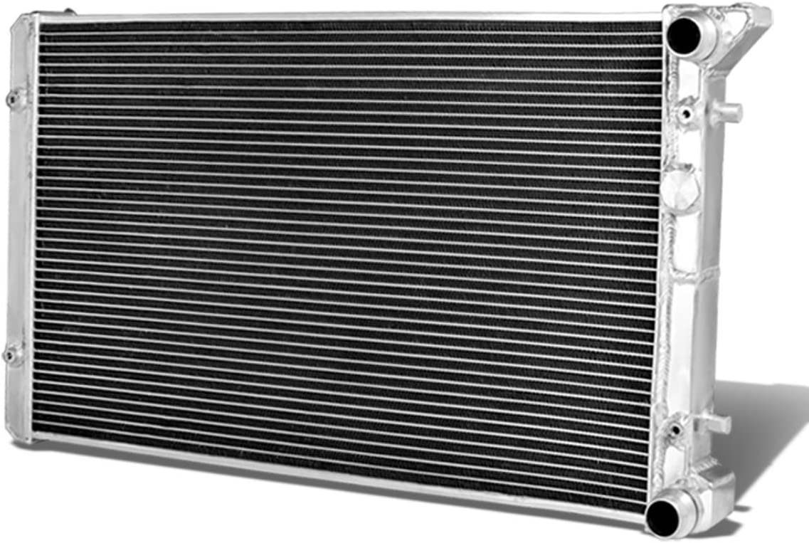 Full Aluminum Dual Core 2-Row Cooling Radiator for VW Golf Jetta Audi TT 99-07