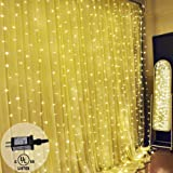 AicLuze NinKe Star 300 LED Window Curtain String Light Wedding Party Home Garden Bedroom Outdoor Indoor Wall Decorations