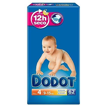 Dodot - Pañales talla 4 (9-15 kg), 3 Paquetesx 62: