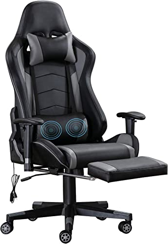 ANJHOME Massage Video Gaming Chair