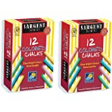 Sargent Art 66-2010 12-Count Colored Dustless Chalk (2 Pack)