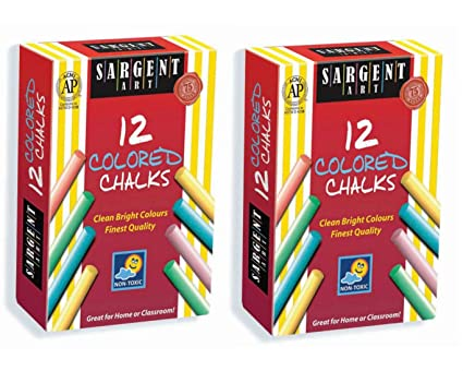 12 count Sargent Art Colored Chalks