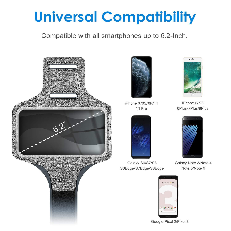 JETech Brazalete Deportivo Compatible iPhone 11/11 Pro/XR/XS/X/8 ...