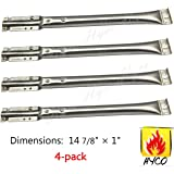 Vicool hyB678 (4-pack) Universal Barbeque Grill Replacement Stainless Steel Pipe Burner Replacement for Kenmore Sears Models: 122.16134, 122.16134110, 415.16107110, 720-0773