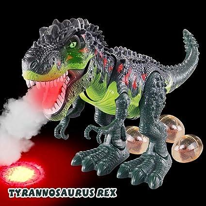 "15/"" Dinosaur Model Lay Eggs Simulated Lighting Battery Kids Animal Toy G"