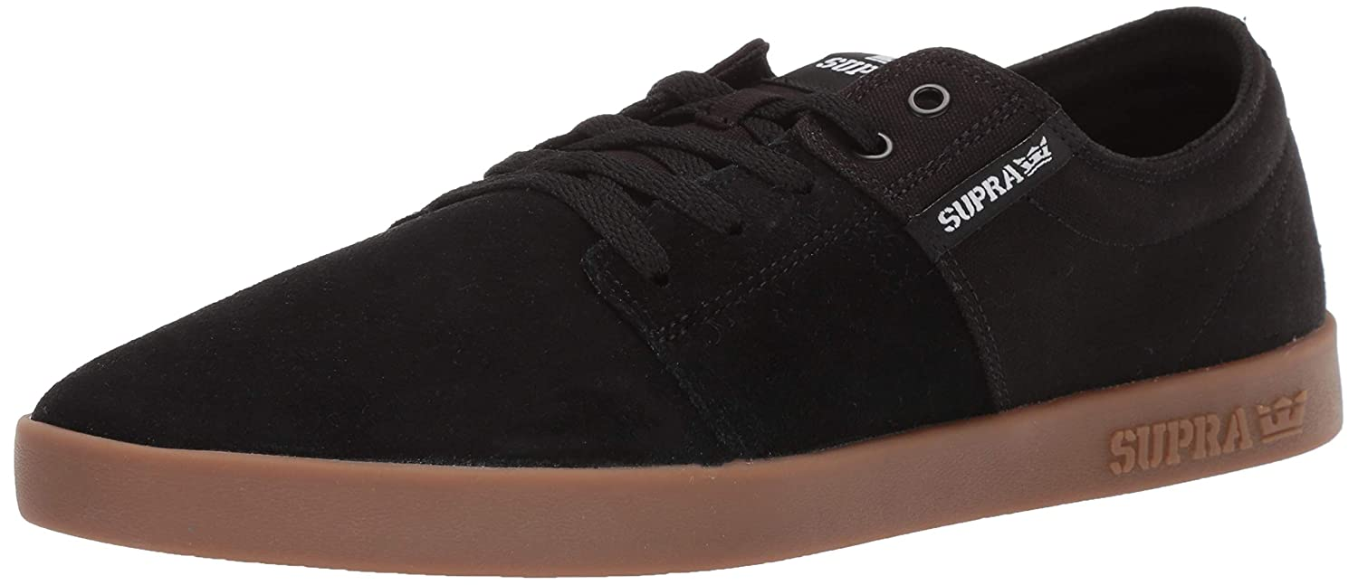 Noir (noir-gum-m 55) Supra Stacks II, Baskets Basses Mixte Adulte 42 EU
