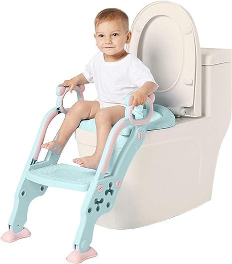 Adaptador WC para Niños con Escalera Antideslizante, Altura Ajustable-Reductor WC/Orinal Plegable para Niños.: Amazon.es: Bebé