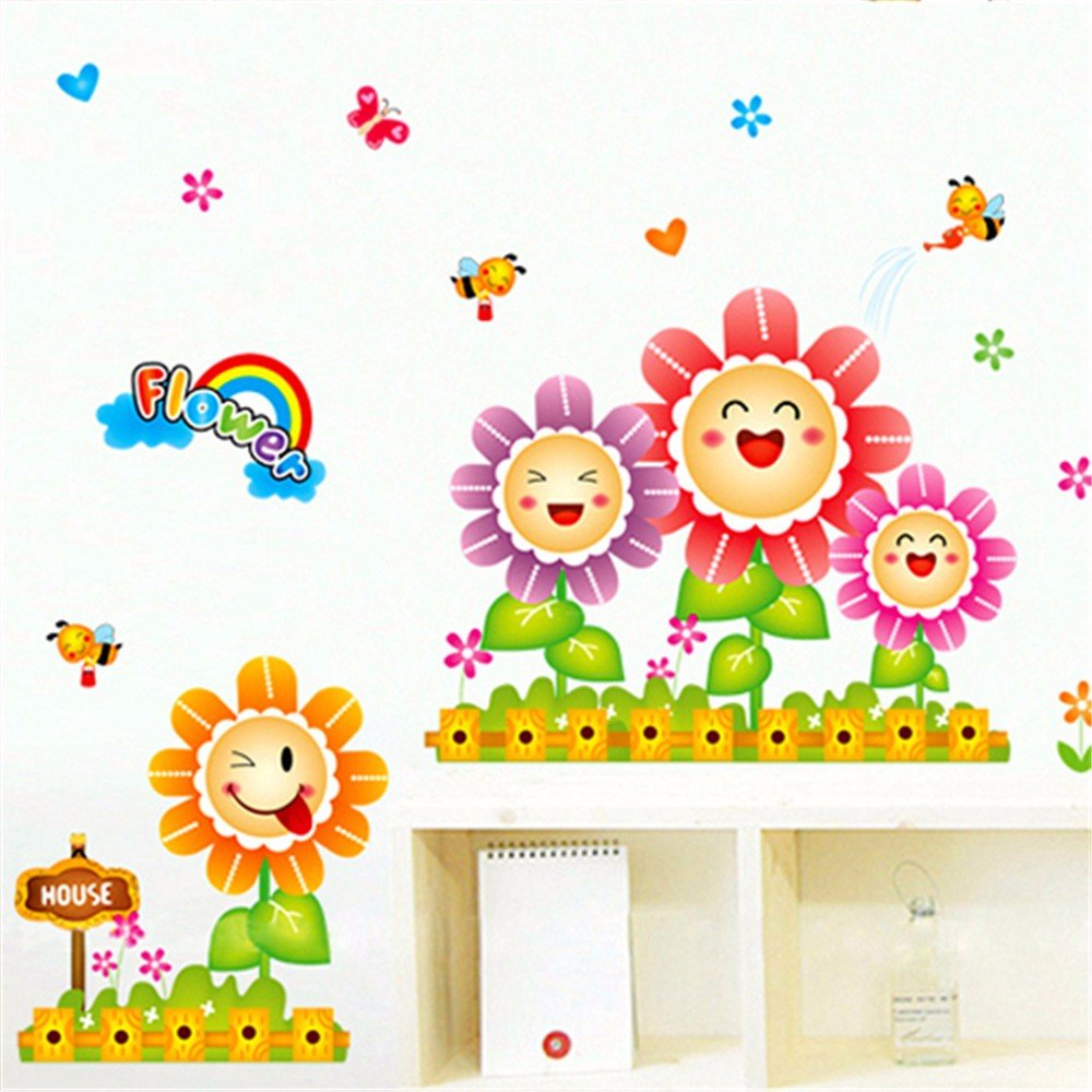 ALLDOLWEGE Cartoon Schlafzimmer Kinderzimmer Bett Wand Aufkleber ...