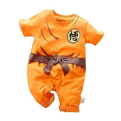 Amazon.com: Newborn Baby Role Playing Goku Jumpsuit Cartoon ...