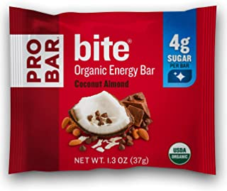 product image for PROBAR - bite Organic Energy Bar - Coconut Almond - USDA Organic, Gluten-Free, Non-GMO Project Verified, Plant-Based Whole Food Ingredients, 6g Protein, 4g Fiber - Pack of 12