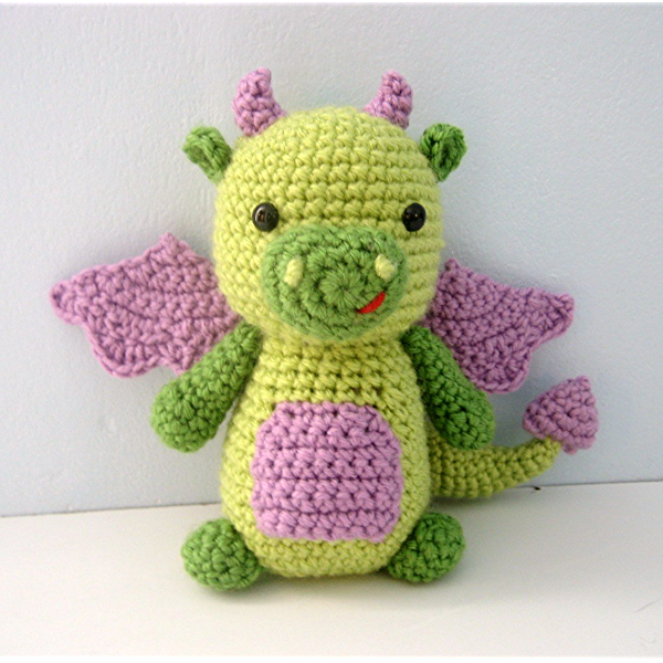 Blummy the Dragon - Amigurumi PDF CROCHET PATTERN | Crochet toys ... | 600x600