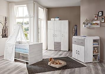 Modernes Babyzimmer babyzimmer komplett set in grau weiß kinderzimmer in sand eiche 4