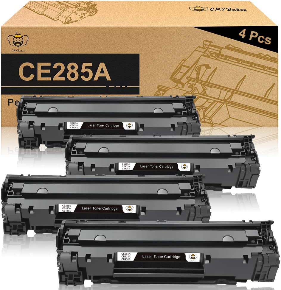 CMYBabee Compatible Toner Cartridges Replacement for HP 85A CE285A for HP Laserjet Pro P1102w P1109w M1212nf M1217nfw MFP Printer(Black, 4-Pack)