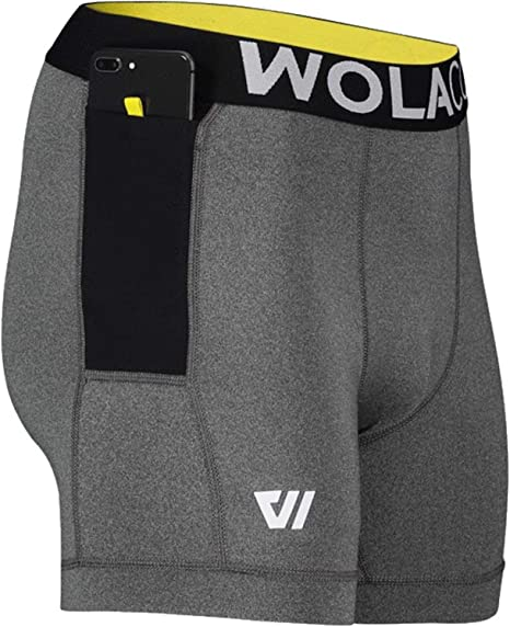 6 Inseam Made in America WOLACO North Moore Compression Shorts Compact Sports Activewear