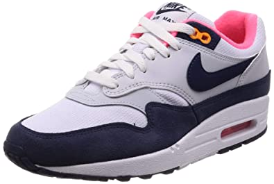 Nike Women's Air Max 1 WhiteMidnight Navy 319986 116