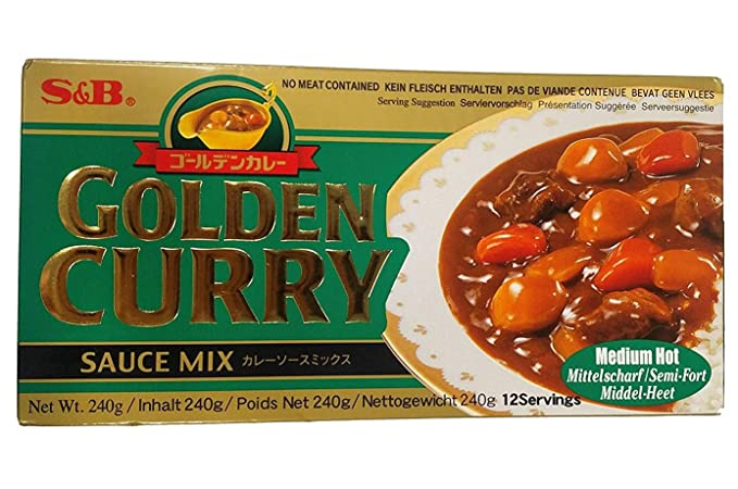 S & B Golden Curry medio caliente (sin carne se incluye) 240g
