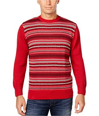Weatherproof Mens Vintage Fair Isle Knit Sweater at Amazon Men's ...