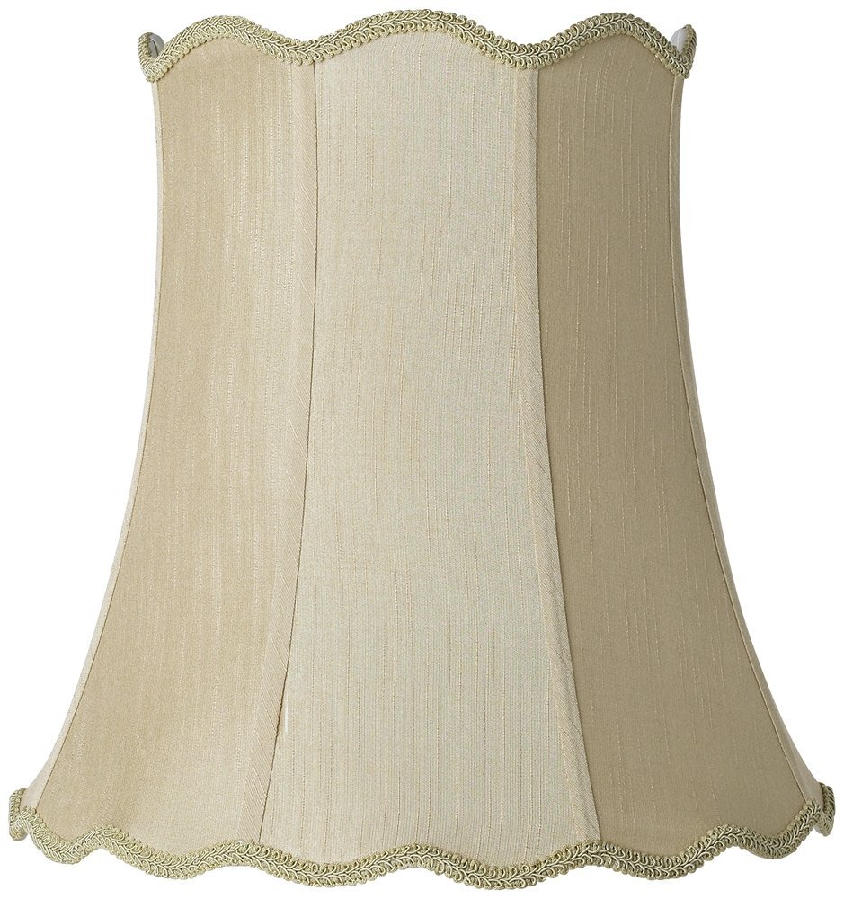 Imperial Taupe Scallop Bell Lamp Shade 12x18x18 (Spider)