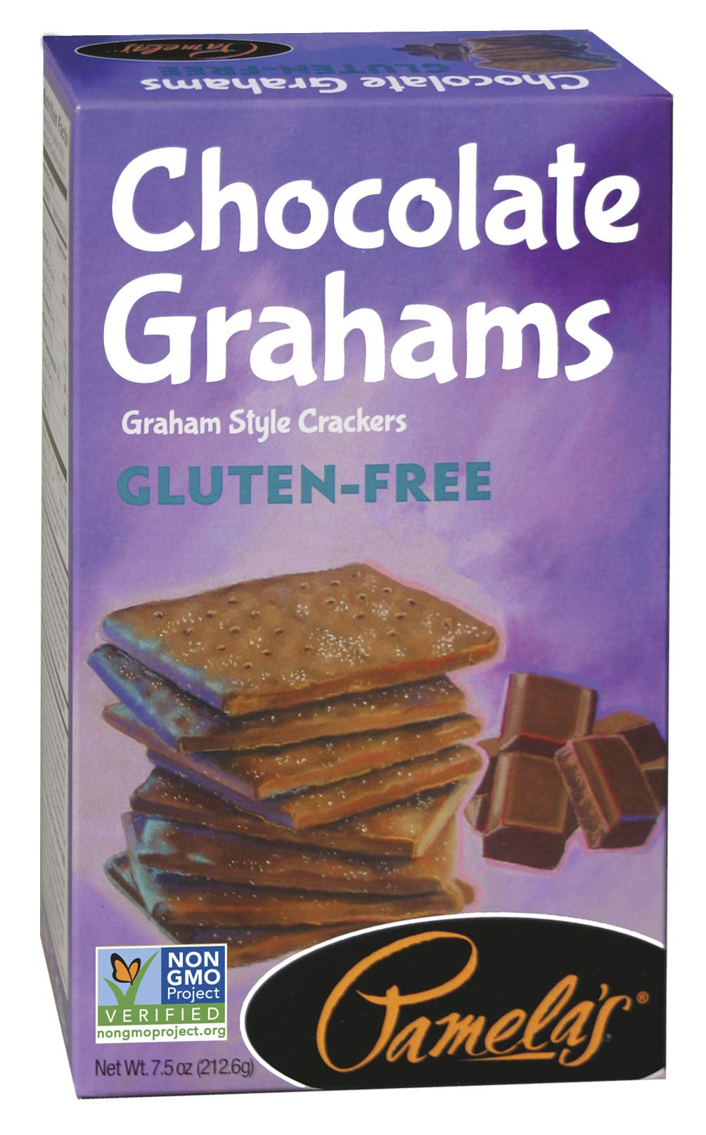 Pamela's Products Gluten Free Graham Crackers, Chocolate, (Pack of 6) by Pamela's Products