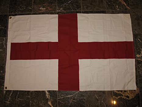 3x5 Embroidered Sewn St George Georges Cross 100/% Cotton Flag 3/'x5/' House Banner