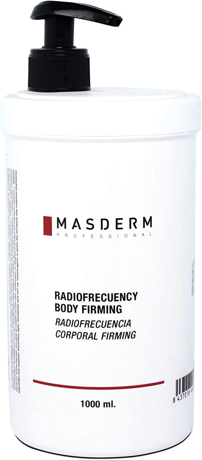 MASDERM   Gel-Crema Corporal Radiofrecuencia Reafirmante Hidratante 1000 ml   Profesional   Mujer   Cavitación   Ultrasonidos   Luz LED  