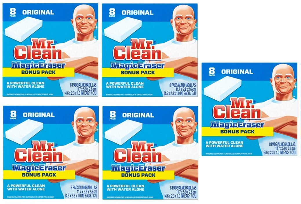 Mr. Clean Magic Eraser Cleaning Pads, 8-Count Box (5 Pack) by Mr. Clean
