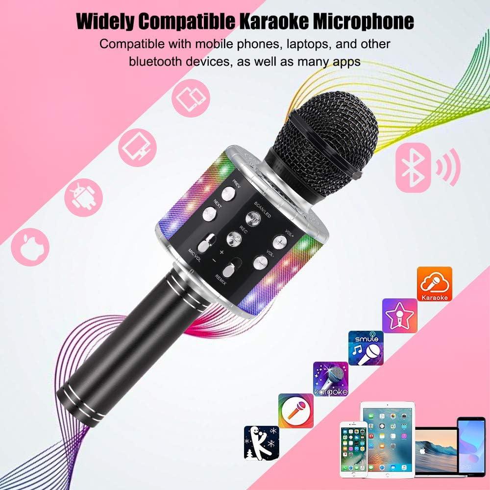 PC o smartphone Home KTV Player Ankuka Microfono Karaoke Bluetooth Wireless con Casse Incorporate Compatibile con Android//iOS 4 in 1 Karaoke Portatile per Cantare e Registrare